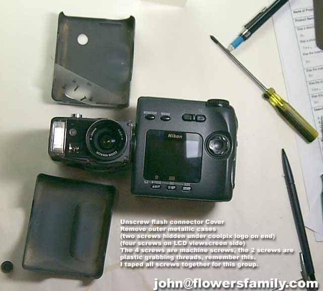 Nikon Coolpix 990 Lens dissasembly